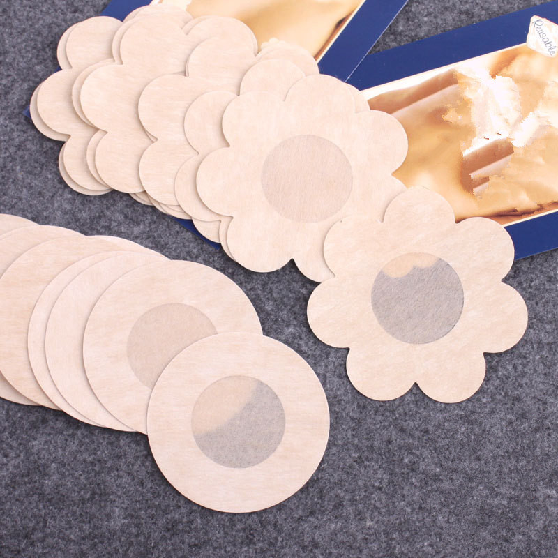 50pcs Soft Nipple Covers Stickers Disposable Breast Petals Flower Sexy Tape Bra Pad Pastie For Women Intimate Accessories