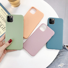Cute Candy Color Silicone Phone Case For iPhone X XS XR Xs Max 11 Pro Max Soft TPU Simple Back Cover For iPhone 6 6s 7 8 Plus new iphone case for iphone 11 for iphone11 pro max 5 8 inches 6 1 inches 6 8 inches 6 6s 7 8 plus ix xr max x fashion back cover