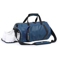 2019 fashion sports fitness bag men's SANXDI portable travel bag nylon casual solid color diagonal zipper travel bag SA 8