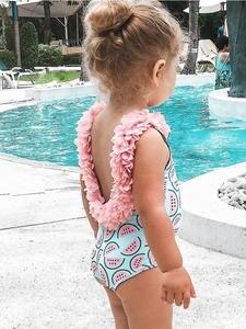 Pudcoco Bikini Swimwear Bodysuit Watermelon Girls Toddler One-Piece Baby Infant for 0-4years