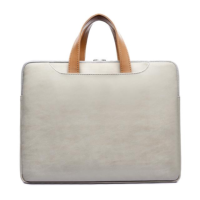 Waterproof PU Leather Laptop bag Case Casual Notebook Handbag for women 13 13.3 14 15 15.6 inch Briefcase For Macbook pro men