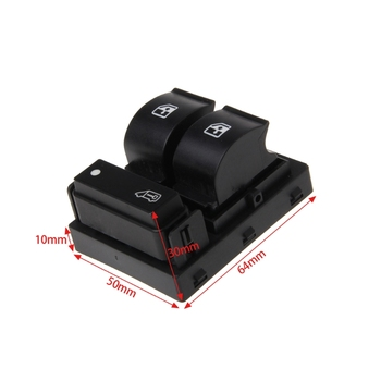 3 Buttons Power Master Window Switch Console Boxer For Fiat Ducato Doblo Peugeot Citroen Relay image