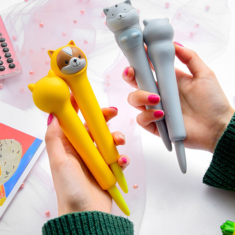 Creative Pinch Reduced Pressure Pens Cute Cartoon Cat Claw Gel Pens For Girls Gifts School Office Supplies Novelty Stationery