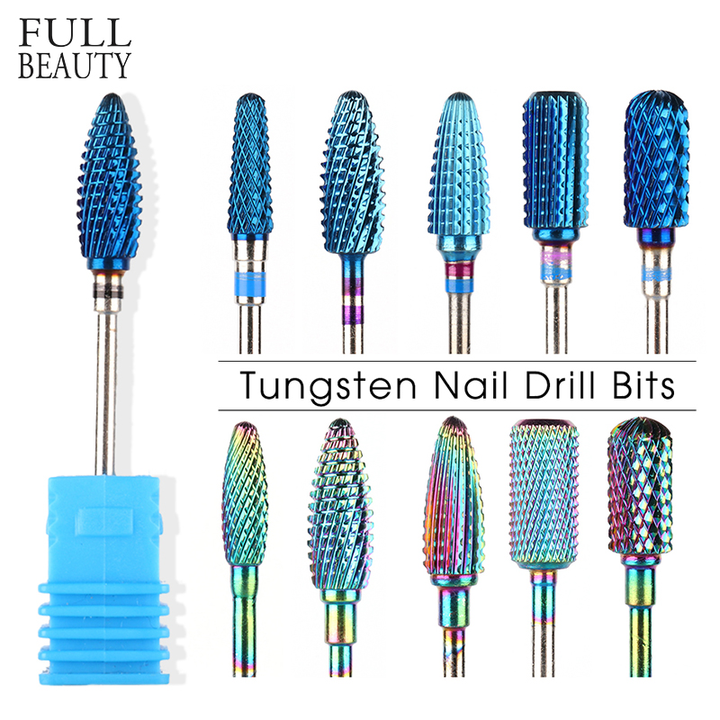 1pcs Tungsten Drill Bit For Manicure Pedicure Nail Clean Dead Skin Milling Cutter Polishing Files Electric Nail Drill CHXDS1-18