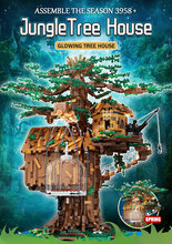 Building Blocks Assemble Bricks Kids Educational Toys The Tree House Model With Led lights Christmas Gifts