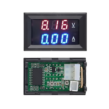 DC 100V 10A Car Voltmeter adater Ammeter Blue Red LED Amp Dual Digital Volt Meter Gauge Voltage Current Home Use Tool image