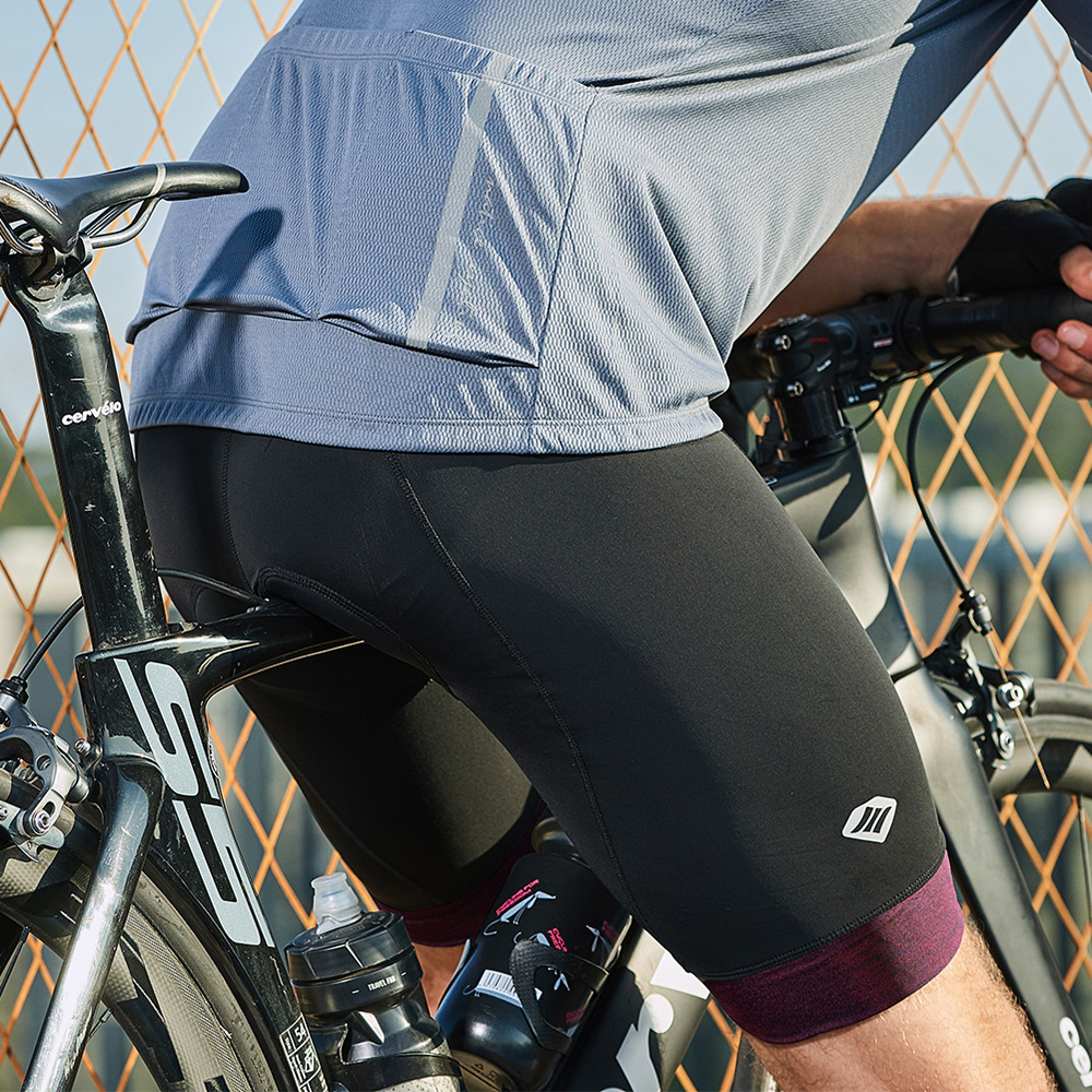 Santic Men Cycling Shorts Padded Coolmax 4D Padded Shorts Shockproof MTB Road Bike Pro Shorts Reflective Ciclismo EK8MC147