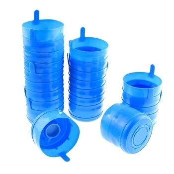 ¡Promoción! 35 UDS no derrame tapa Anti Splash Bottle tapas 55mm 5 galones cubo de agua jarra de agua de reemplazo de la botella de la presión en la tapa