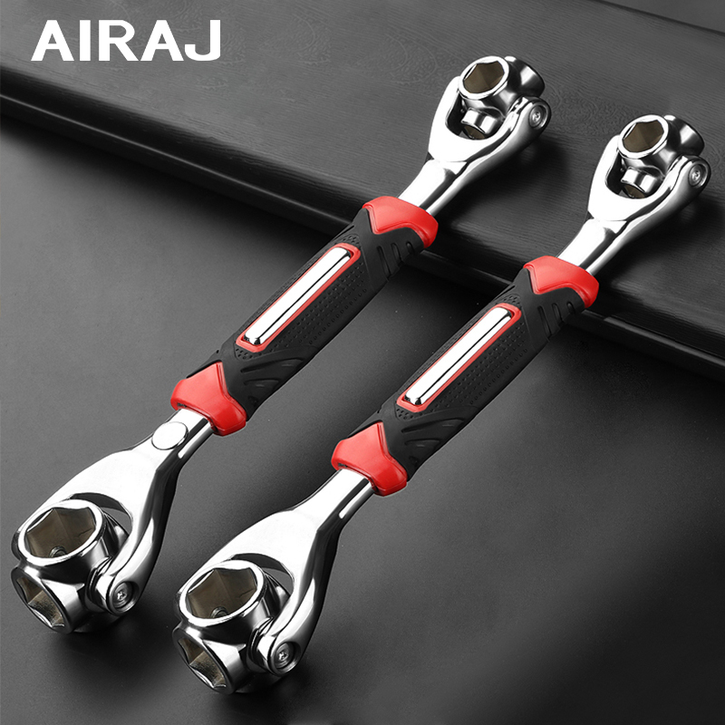 AIRAJ 52-in-1 Vise Wrench Sleeve, 360-Degree Rotation, Adaptable To A Variety Of Screws, Household Auto Parts Repair Tools