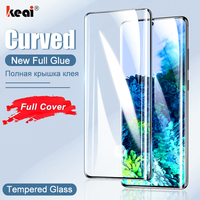 Gebogen Gehard Glas Voor Samsung Galaxy Note 20 Screen Protector 10 Plus S21 Ultra S20 S10 S9 S8 9 8 jelly Full Lijm Cover Film mobiele telefoon accessoires