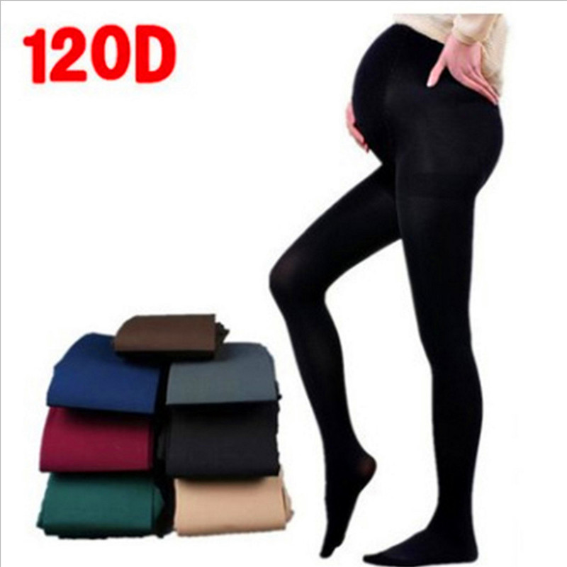 120D Velvet Pregnant Women Pantyhose Large Size Leggings Increase Fertilizer & Pantyhose Maternity Pants Maternity Pants Spring