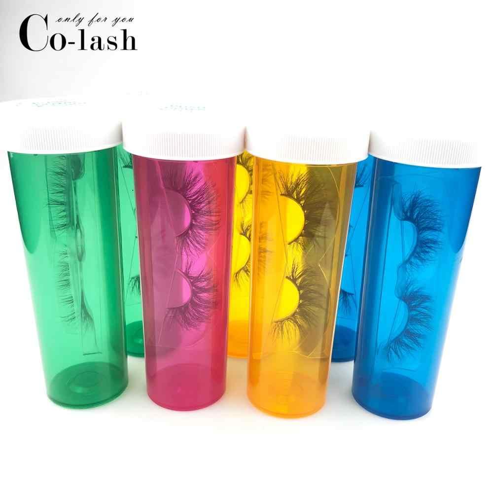 Colash Pillola Ciglia Scatola di Imballaggio Logo Personalizzato Falso 3d ciglia di Visone Scatole Faux Cils ciglia della banda Cassa Vuota