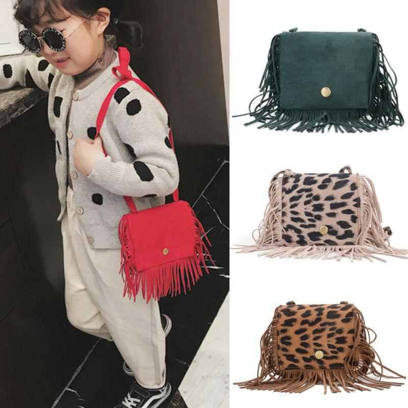 NEW 2020 Tassel Messenger Bag Kid Girls Handbag Coin Purse Children Shoulder Bag Gifts