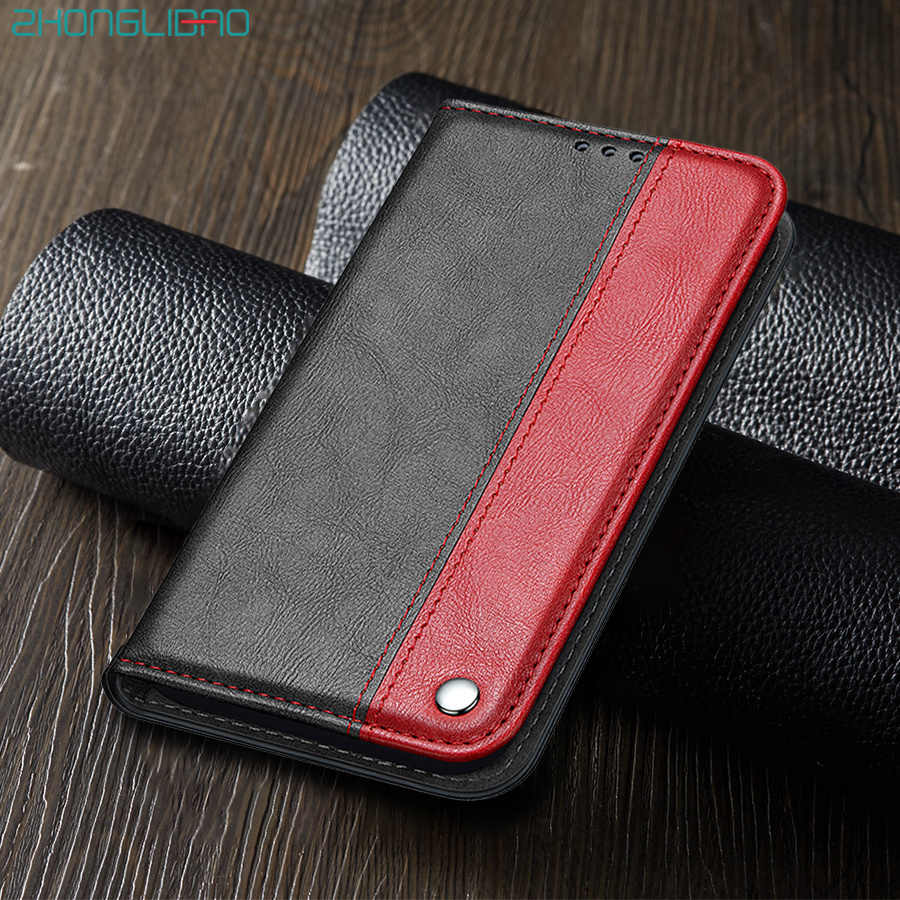 Leather Flip Wallet Case Voor Iphone 11 Pro Xs Max Xr Magnetische Cover Voor Iphone 8 7 6 6S X Plus 5 5S Se Kaarthouder Stand Coque