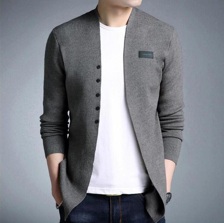 Sweater Cardigan Men's Spring And Autumn Men Casual Knitted Cotton Wool Sweater Men Clothes Mens Sweaters And Cardigans Coat