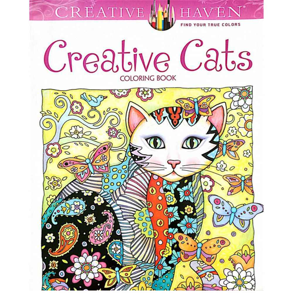 NEW Creative Haven Cats Colouring Book For Adults Antistress Coloring Book Secret Garden Serie Gifts for Kids Students