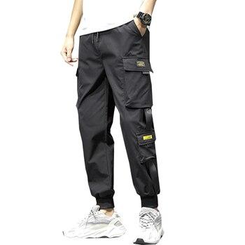 2020 Fashion Men Streetwear Pants Cargo Pants Hip Hop With Side Pocket Trousers Joggers Pants For Men