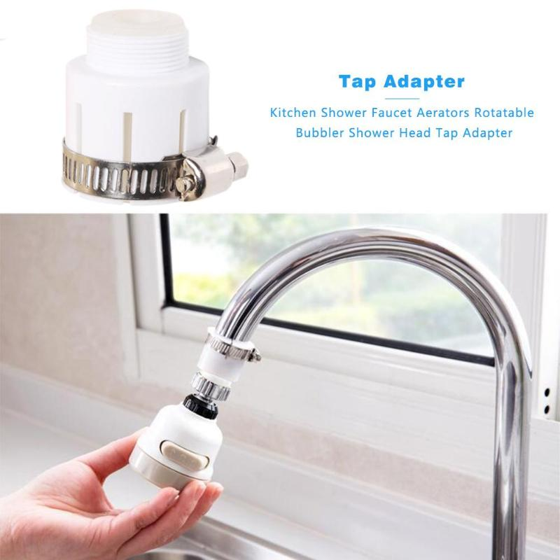 Universal Water Tap Faucet Adapter Shower Anti Splash Head Adapter Rotatable Bubbler Fittings For Kitchen Bathroom Accessories