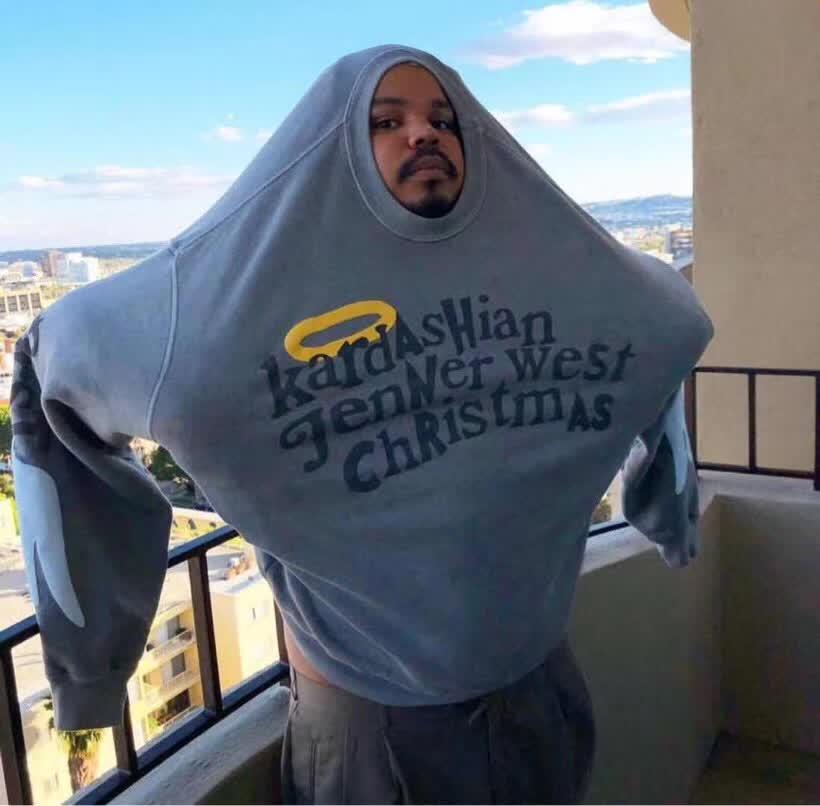 Hommes femmes sweats CPFM Hoodies Jenner West noël fête série Logo imprimé enfants voir fantômes à capuche Kardashian
