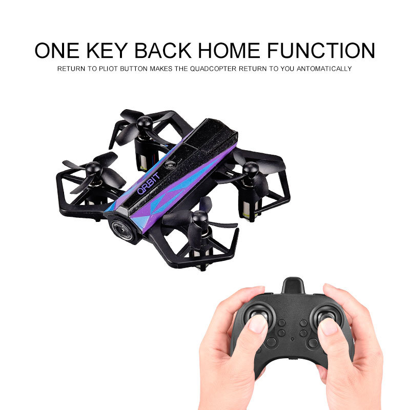 Brocade Yu Folding Unmanned Aerial Vehicle Remote Control Mini Quadcopter A Key Roll Set High Airplane Model Toy