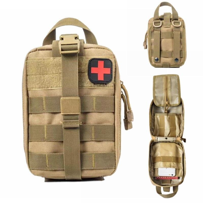 Molle taktik ilk yardım çantası tıbbi çanta acil açık ordu av araç acil kamp hayatta kalma aracı askeri EDC kılıfı