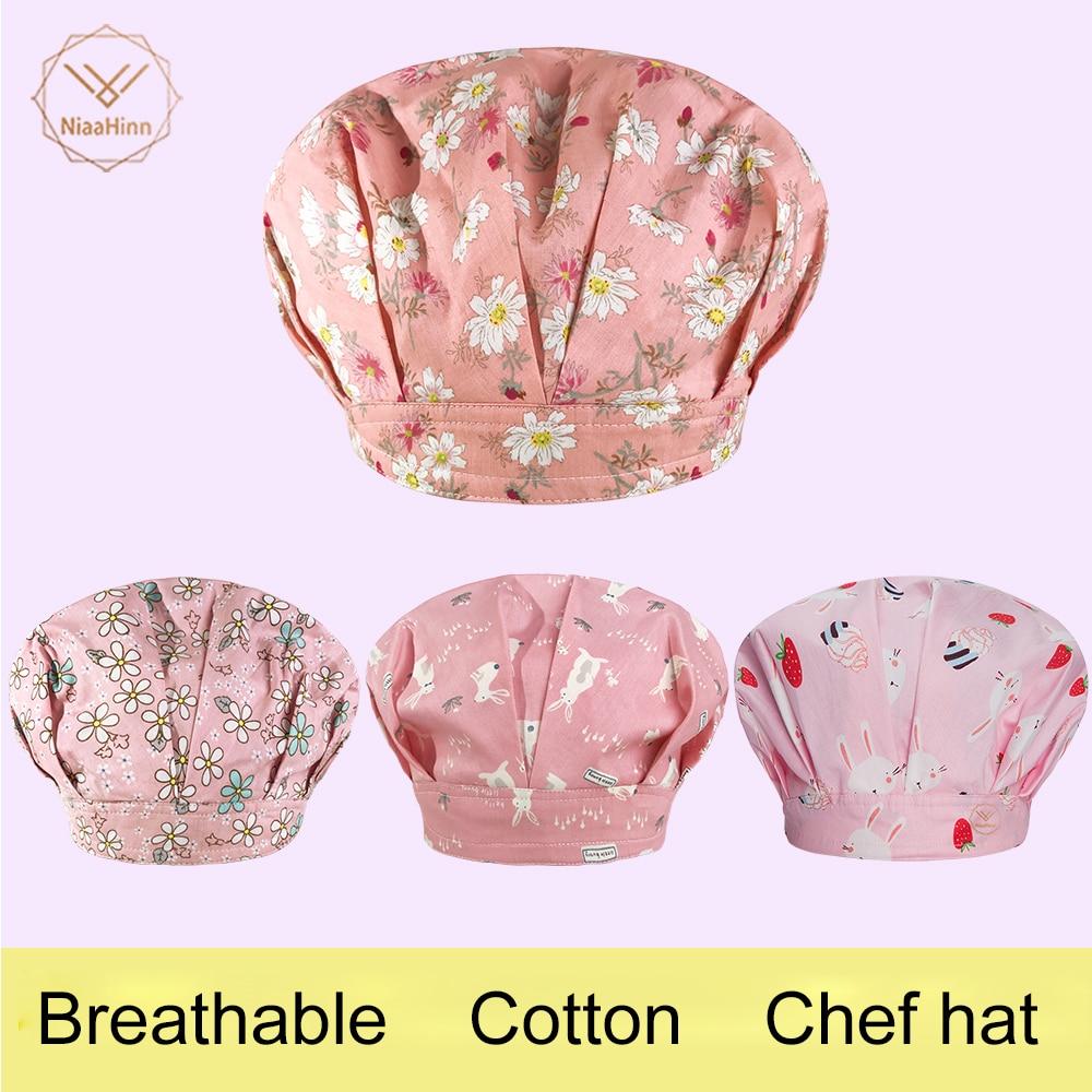 Chef Hat Men Women Kitchen Baker Cafe Bar Restaurant Hotel Bakery Chef Uniform Waiter Work Hats Breathable Workshop Dust Caps