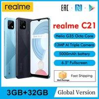 "realme C21 RMX32013GB 32GB 6.5"" Minidrop Fullscreen 13MP AI Triple Camera Helio G35 Octa Core 5000mAh Battery Mobile Phone 1"