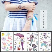 12*7.5cm Temporary Tattoo Sticker Fashion Fake Tatoo Mermaid Flash Tatto Waterproof Small Body Art For Children 2020(China)