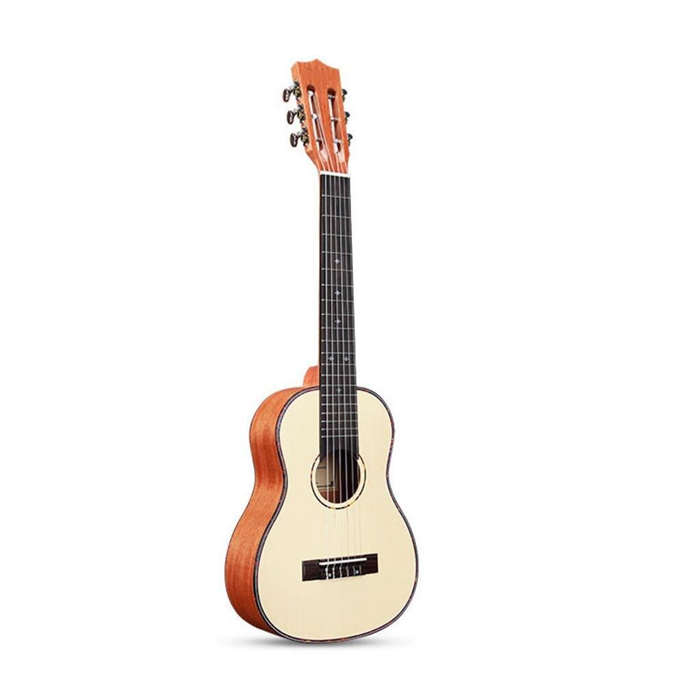 Unisexe 30 pouces palissandre nylon ficelle ukulélé guitare 6 cordes guitare instrument