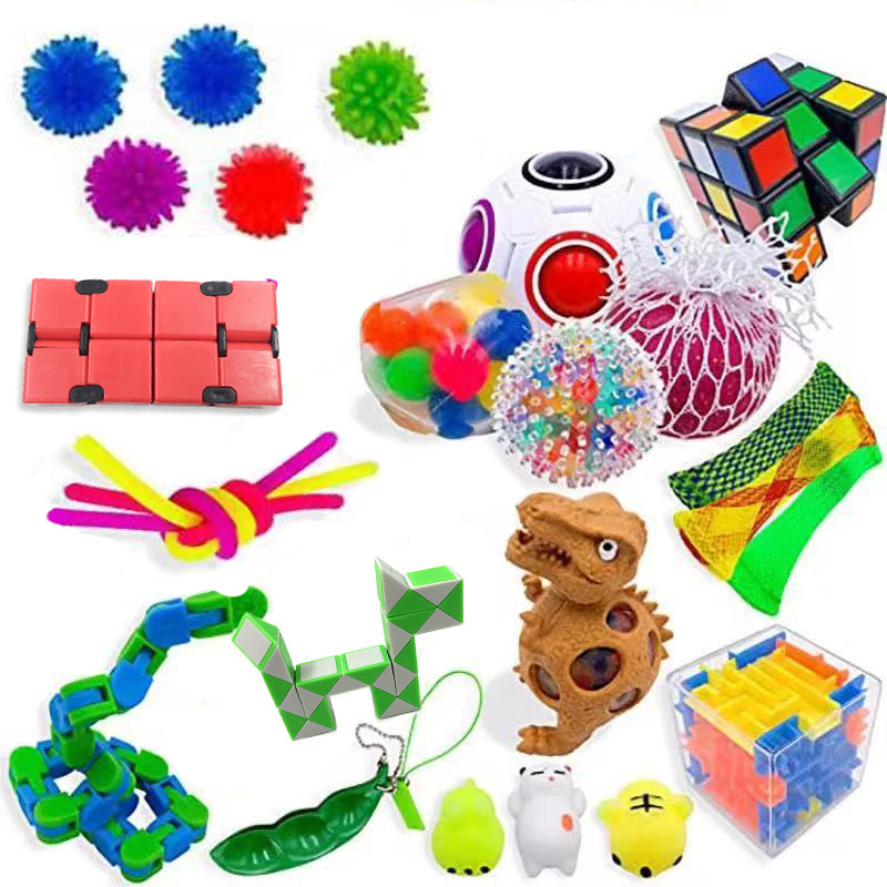 Sensory Fidget Toys Set Stress Relief and Anti-Anxiety Tools Bundle Stress Relief Hand img2
