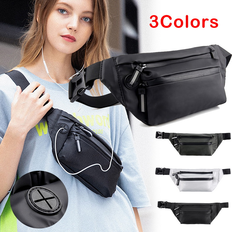 Men Women Waist Pack Purse Sport Bum Belt Bag Cycling Travel Pouch Fanny Bag