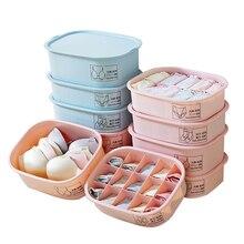 10 Grids/15 Grids Label Underwear Storage Box Organizer Bra Socks PP Plastic for