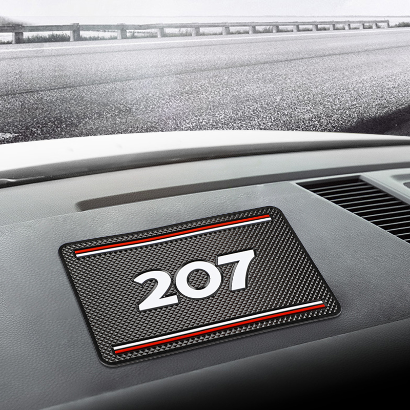 19x12cm Car Dashboard Sticky Anti-Slip PVC Mat Auto Non-Slip Sticky Gel Pad For Peugeot <font><b>207</b></font> 206 308 406 407 408 3008 Car Styling image