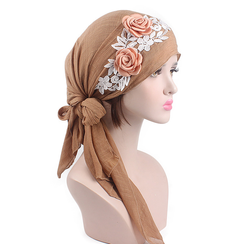 2020 fashion new flowers women inner hijab caps rural style ready to wear muslim headdress lady wrap head scarf turban bonnet Women Women's Clothings Women's Scarf/Shawls/Caps