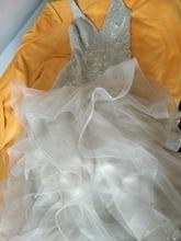 연예인 소매 우아한 드레스