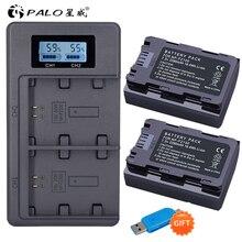 פאלו 1 4 NP FZ100 NPFZ100 NP FZ100 2280mAh 7.2 V/USB מהיר חכם מטען עבור sony NP FZ100 BC QZ1 sony a9 a7R III a7 III ILCE 9