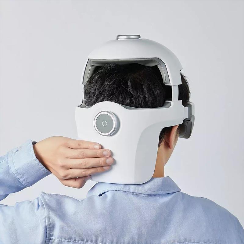 YouPin Smart массаж шлем сяоай голос управление глаза подушка безопасности компрессия встроенный успокаивающий музыка регулируемый голова окружность