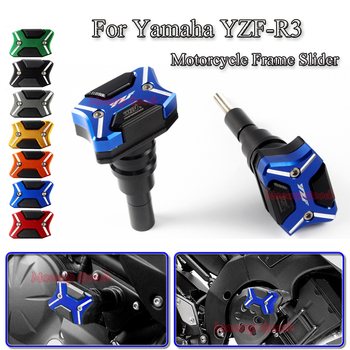 For Yamaha R3 YZF-R3 Motorcycle Falling Protection Frame Sliders Anti Crash Pad Protector Scooter Bike Accessories CNC Aluminum