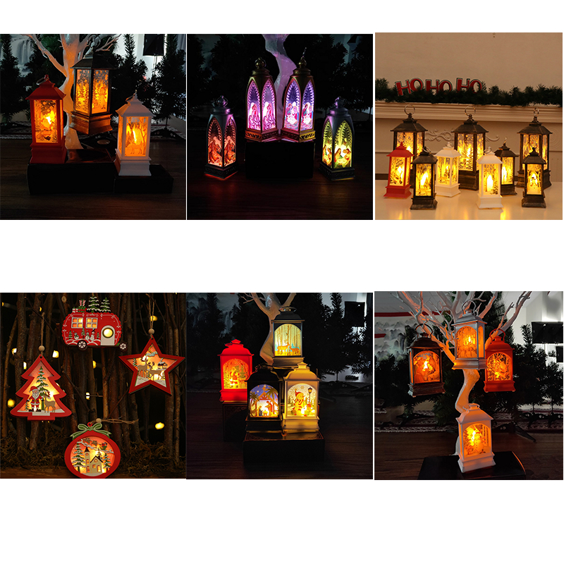 Christmas tree Decoration Tea Light Candlelight Santa Claus arches Angel religious LED Lamp Hanging Ornament Xmas new Year ZB917