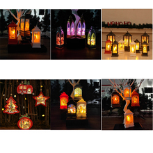 Xmas new Year Candlelight Santa Claus arches Angel religious LED Lamp Hanging Ornament Christmas tree Decoration Tea Light ZB917