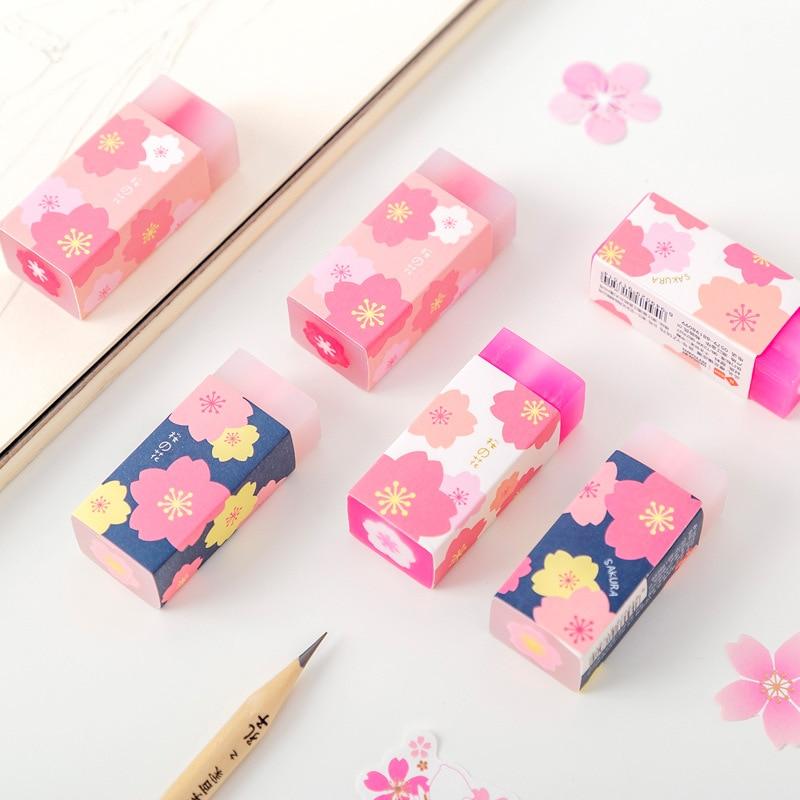 Cherry Sakura Style Cartoon Eraser Rubber Eraser Primary Student Prizes Promotional Gift Stationery