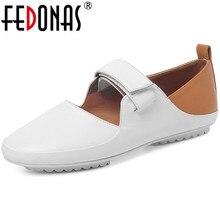 FEDONAS 2020 Newest Sweet Women Pumps Genuine Leather Basic