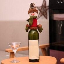 Рождественский Санта Снеговик крышка бутылки вина Топпер Рождественское украшение олень Navidad подарок Мода 3D крышка бутылки Kerst Декор