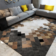 Europe geometric carpet plaid crystal velvet living room bedroom