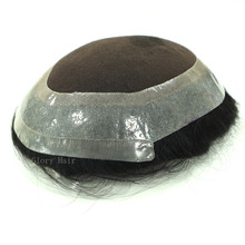 Human-Hair-Unit Toupee Pu-Hair-Replacement-System Men Lace GLORYHAIR Indian for