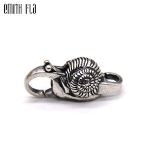 Genuine 925 Sterling Silver Charms Vintage Snail Lobster Lock Clasp for Women Fit for European Charm Bracelets