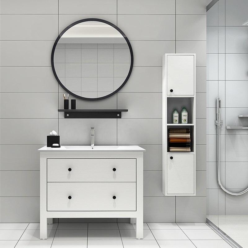 Nordic Personality Simple Round Wall Mirror Hotel Bathroom Decorative Vanity Mirror Round Makeup Wall Mirror ZP7191645