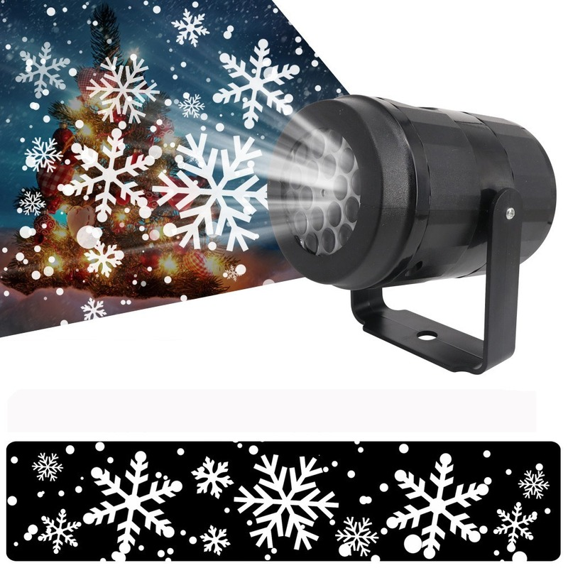 European Standards LED New Snow Lights Snow Projection Lights Christmas Decorative Lights Party Snow Projection