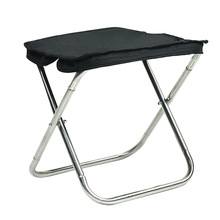 Outdoor Folding Stool Portable Folding Chair Stainless Steel Fishing Chair Travel Subway Ultralight Small Bench