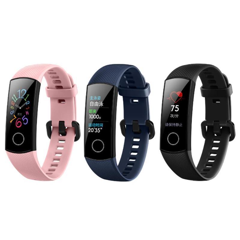 Original Huawei Honor Band 5 bracelet intelligent oxymètre écran tactile magique couleur nager détecter la fréquence cardiaque sommeil sieste Honor Band 5